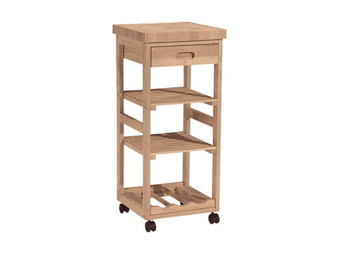 Unfinished Kitchen Trolley Cart - Main Street Furniture Outlet