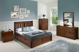 Brushed York Platform Bed - Main Street Furniture Outlet