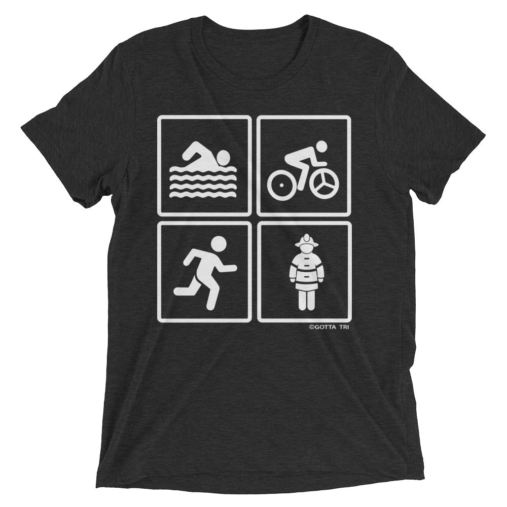 SBR Fireman Short Sleeve Tri-blend Shirt