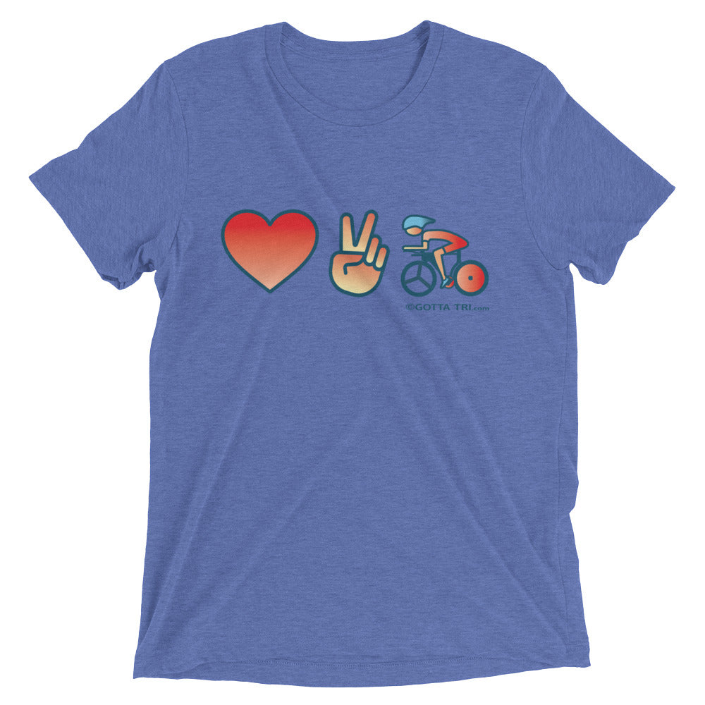 Love to Bike Short Sleeve Tri-blend Shirt