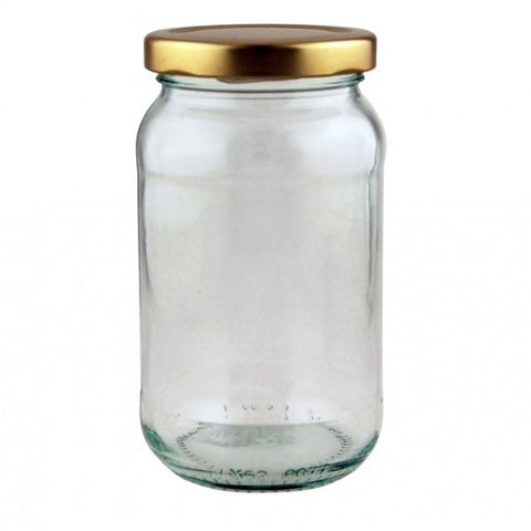 1lb jam jar 454ml glass jar metal screw lid preserving storage jam season
