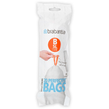 20 Brabantia perfect fit size B bin liners - precisely tailored to fit Brabantia 5 litre waste bins
