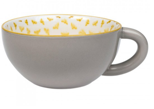 Sophie allport bees coffee mug cappuccino mug bee design yellow mug grey mug tea mug