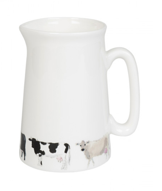 Sophie Allport cows jug cow jug farmer gifts flower jug gravy jug custard jug British design British designer fine bone china jug white jug
