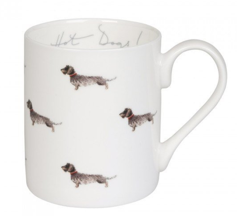 Sophie allport dachshund mug bone china mug british mug stoke china dog mug