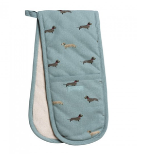 Dachshund double oven gloves sophie allport dog double oven gloves heat resistant