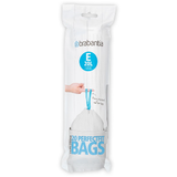 20 Brabantia perfect fit size E bin liners - precisely tailored to fit Brabantia 20 litre waste bins