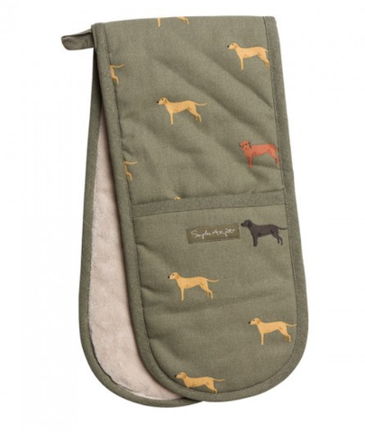 Sophie Allport fab labs double oven gloves labrador oven gloves heat resistant dog design