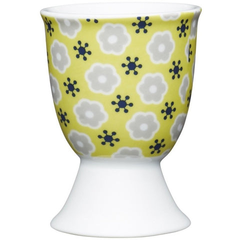 yellow floral egg cup