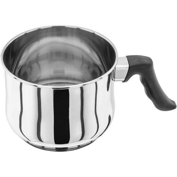 Judge vista original milk/sauce pot 18/10 stainless steel suitable for induction stay cool handles phenolic oven safe