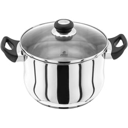 Judge vista stainless steel induction ready suitable stockpot dishwasher safe oven safe 25 year guarantee phenolic handles