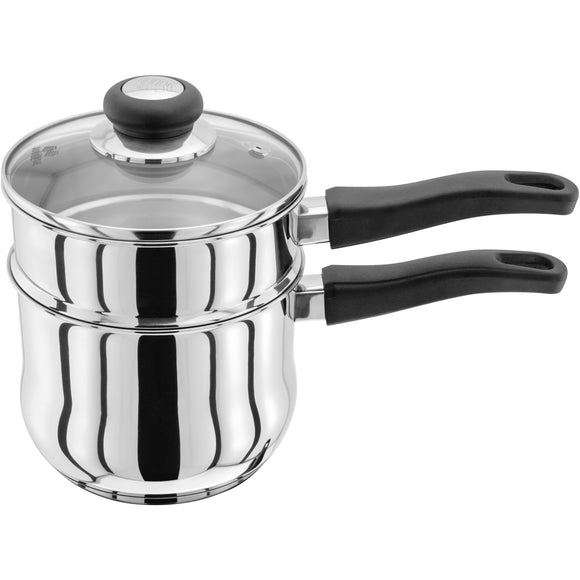 Judge vista original porringer bain marie saucepan induction ready suitable for induction hobs diswasher safe oven safe