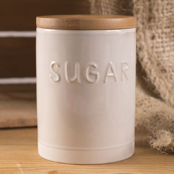 La Cafetiere Origins country cottage rustic storage jar sugar cannister