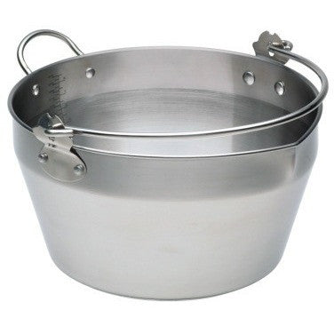 KitchenCraft stainless steel maslin pan/Jam kettle for jams, marmalade and chutneys
