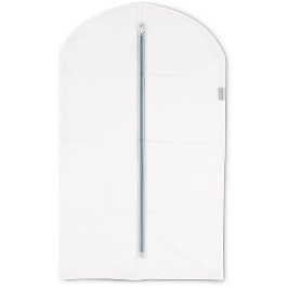 Set of 2 white protective clothes covers, medium 60X100 cm.