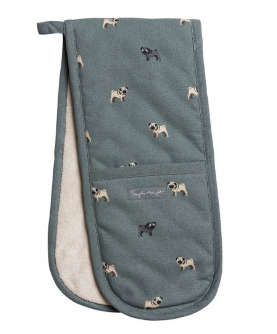 Sophie allport pug double oven gloves heat resistant oven gloves pug design dog design