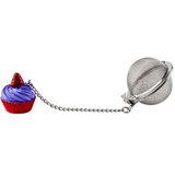 Purple cupcake stainless steel mesh loose tea infuser cks kilo