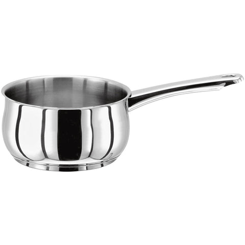 Stellar 1000 stainless steel milk pan 14cm induction suitable dishwasher safe oven safe lifetime guarantee 18/10 stainless steel
