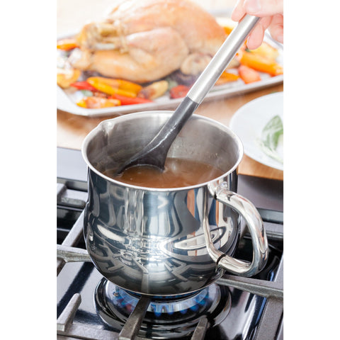 Stellar 1000 milk and sauce pot 18/10 stainless steel induction hob ready oven safe dishwasher safe lifetime guarantee gravy pan custard pan