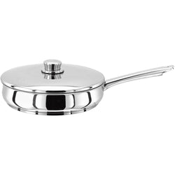 Stellar 1000 24cm 26cm saute pan 18/10 stainless steel suitable for induction ready dishwasher safe oven safe lifetime guarantee
