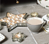 Antiqued Glass Star Shaped Tray