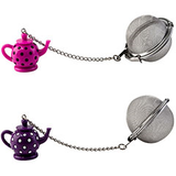 Pink purple teapot mesh stainless steel ball tea infuser loose tea kilo cks