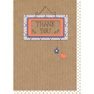 Dilly and pink thank you card with orange and blue photo frame