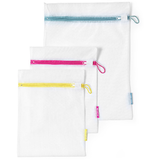 Brabantia set of 3 mesh wash bags to keep your delicates and small items safe in the washing machine.