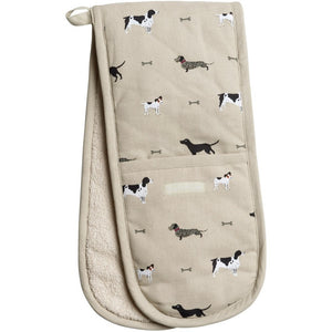 sophie allport double oven gloves woof dachshund terriers Labradors