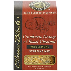 The Shropshire Spice co cranberry, orange and roast chestnut wholemeal stuffing stuffing mix shropshire produce local produce