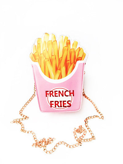 Pink French Fry Purse