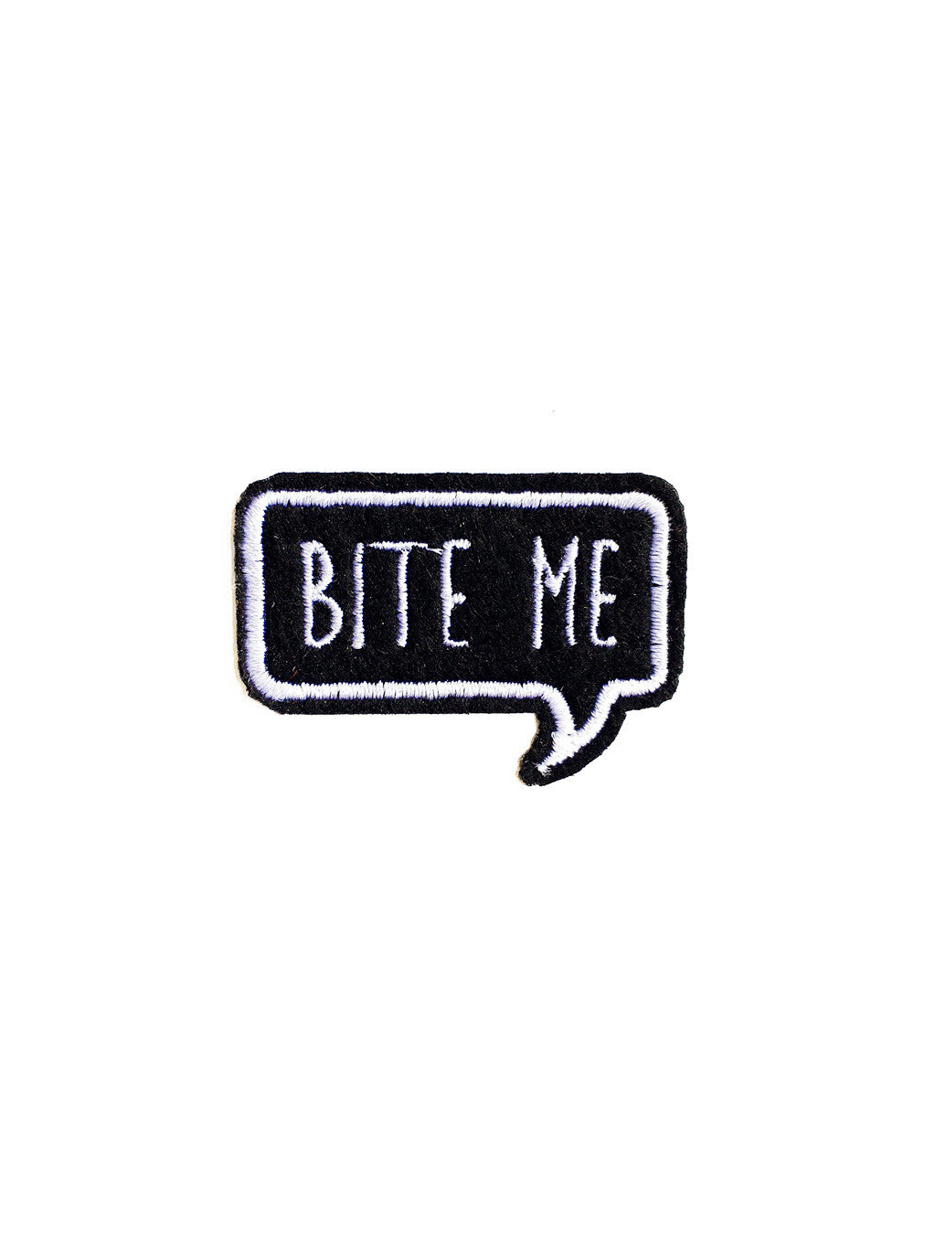 Bite Me Iron On Patch