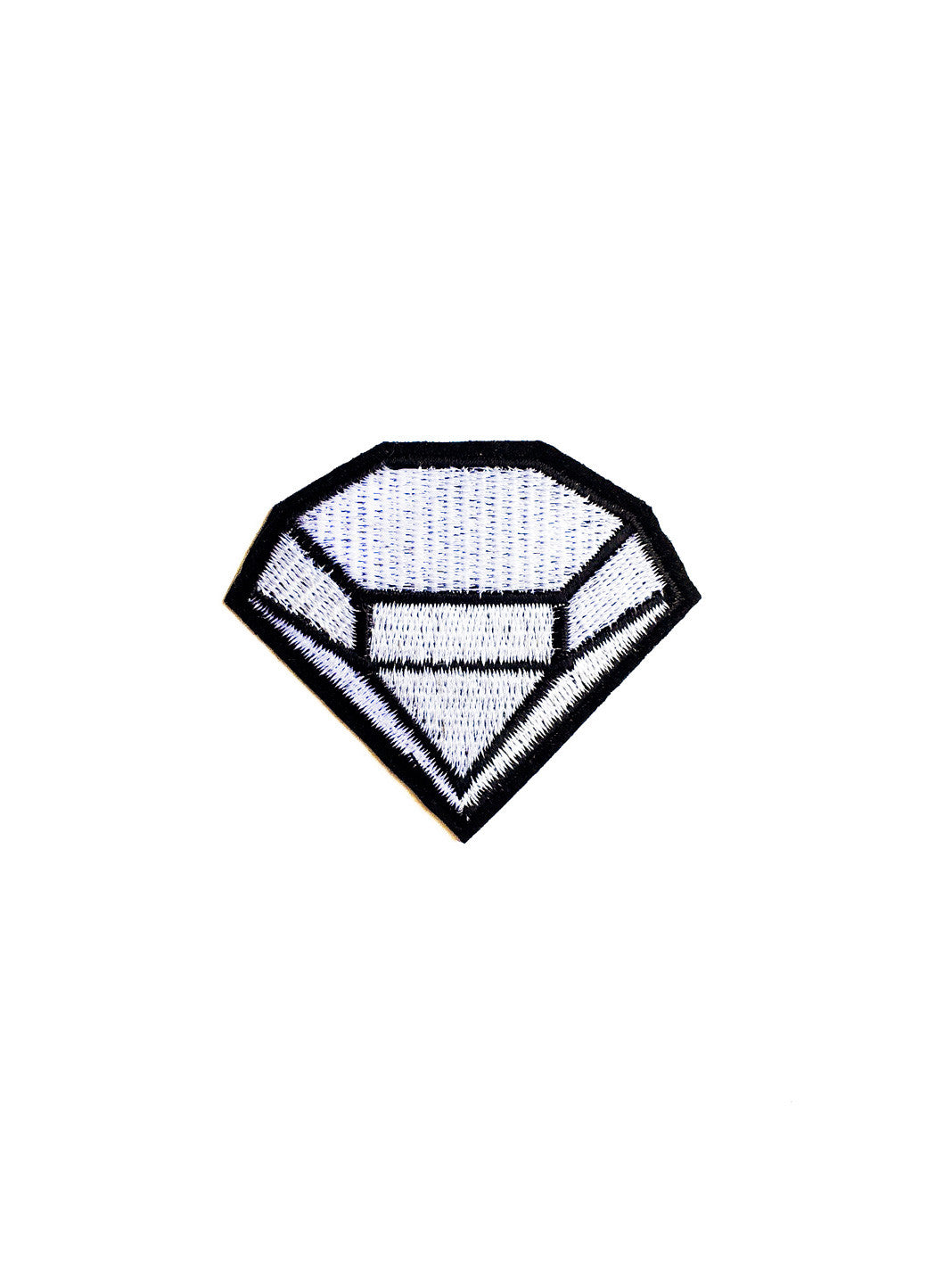 Black and White Diamond Iron On Patch