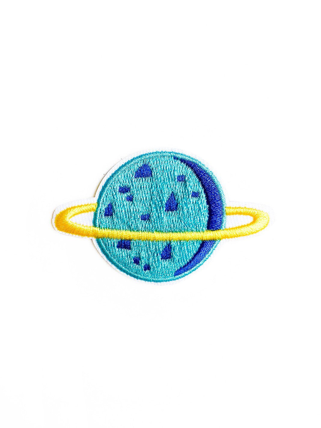 Blue Saturn Iron On Patch