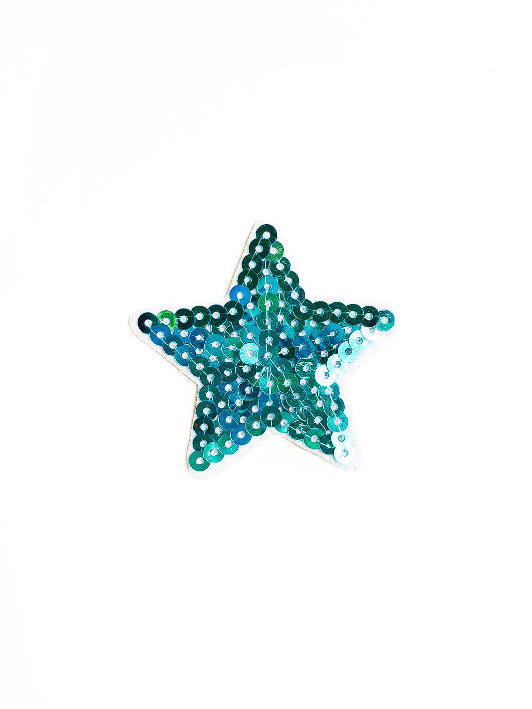 Blue Star Sequin Iron On Patch