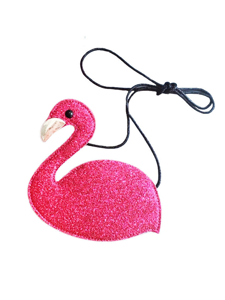 Glitter Pink Flamingo Mini Purse