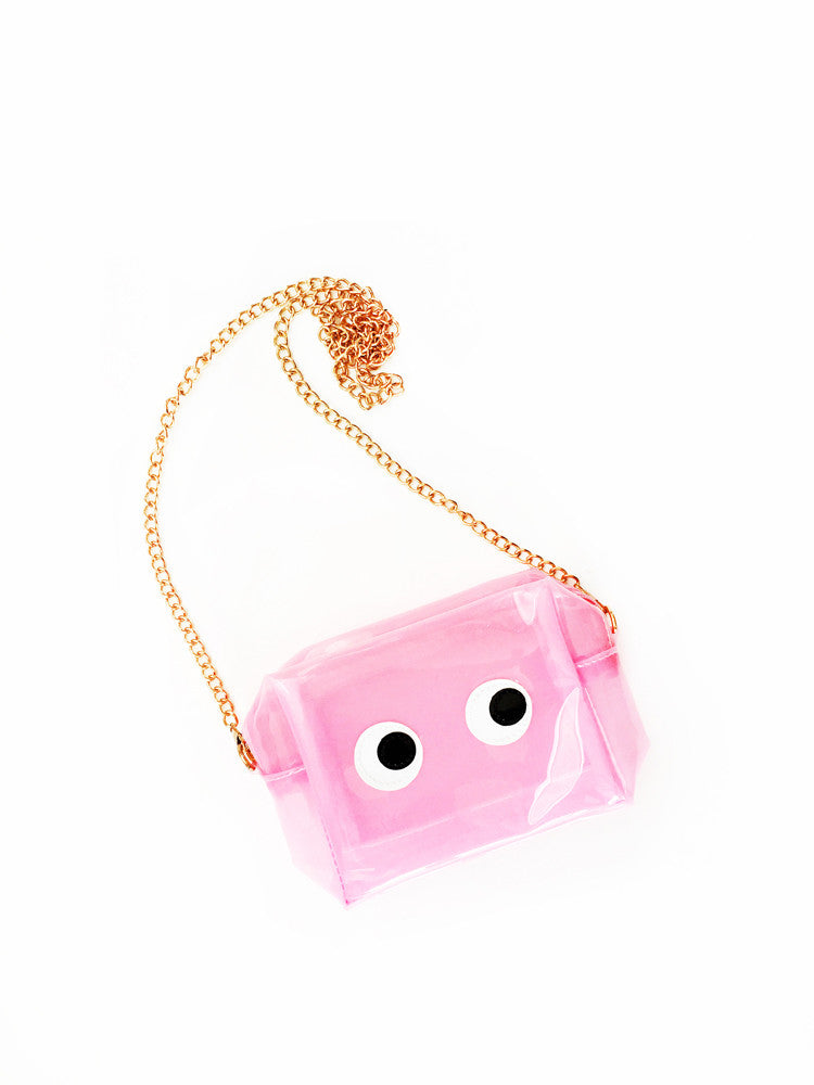 Transparent Eyes Cross Body Purse
