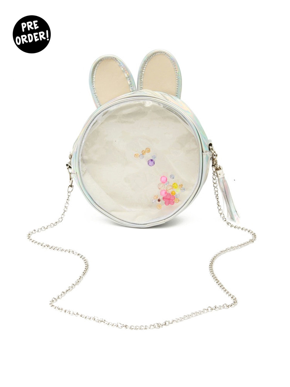 Metallic Clear Bunny Bag
