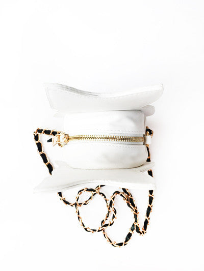White Cat Cross-body Purse