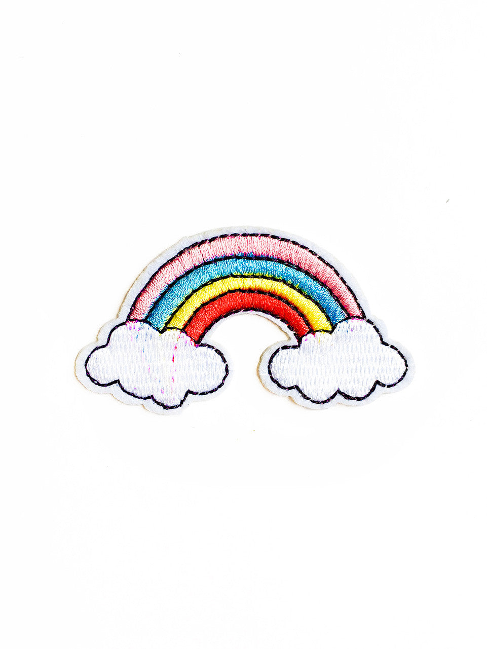 Embroidered Rainbow Iron On Patch