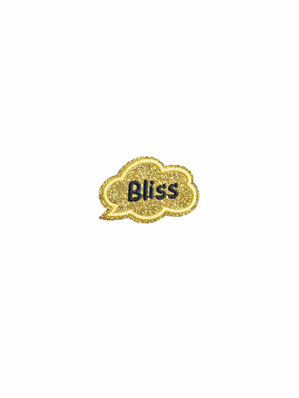 Gold Glitter Bliss Iron on Patch