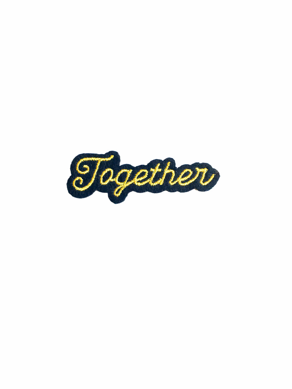 Gold Together Iron on Patch