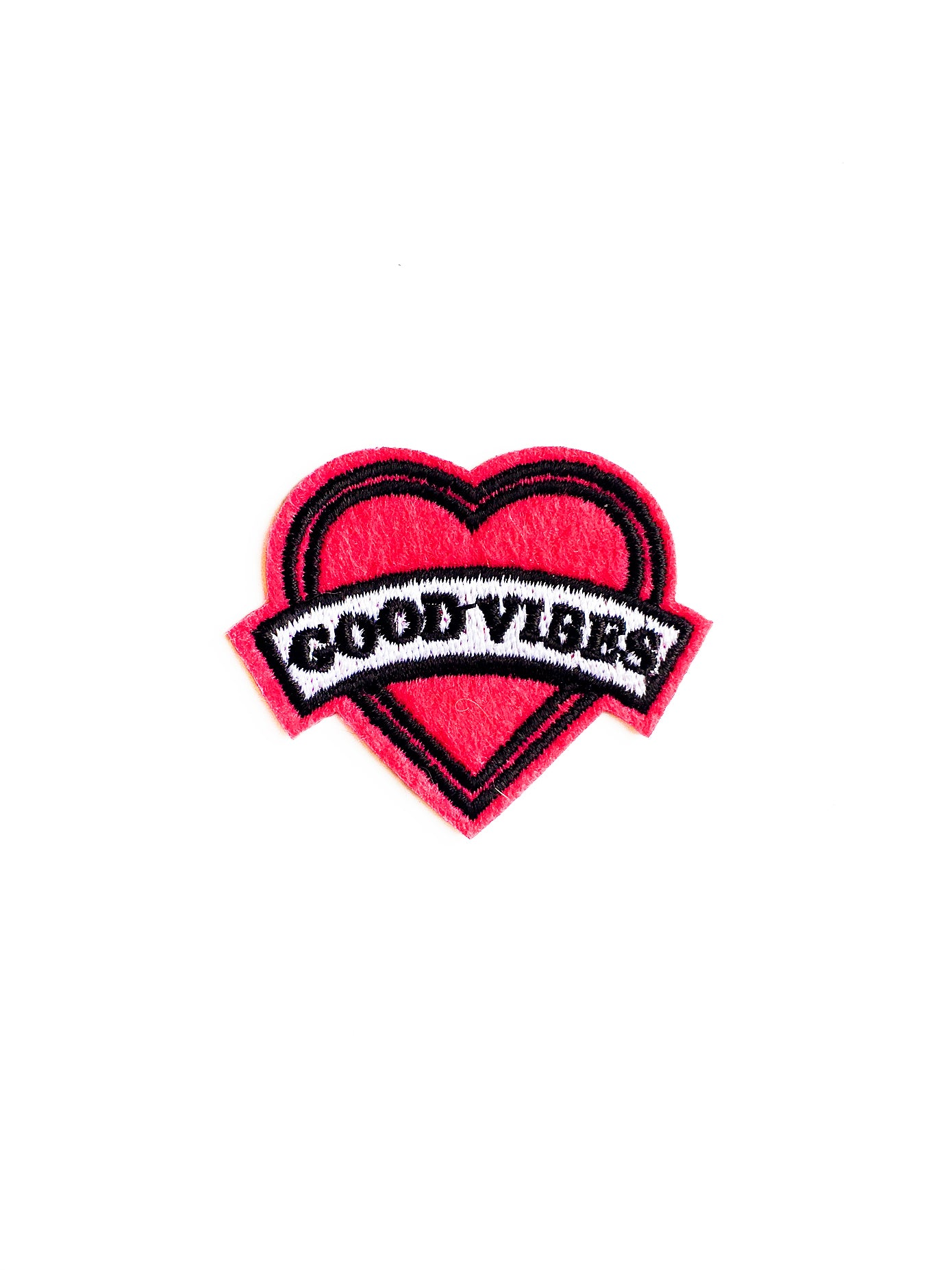 Good Vibes Heart Iron on Patch