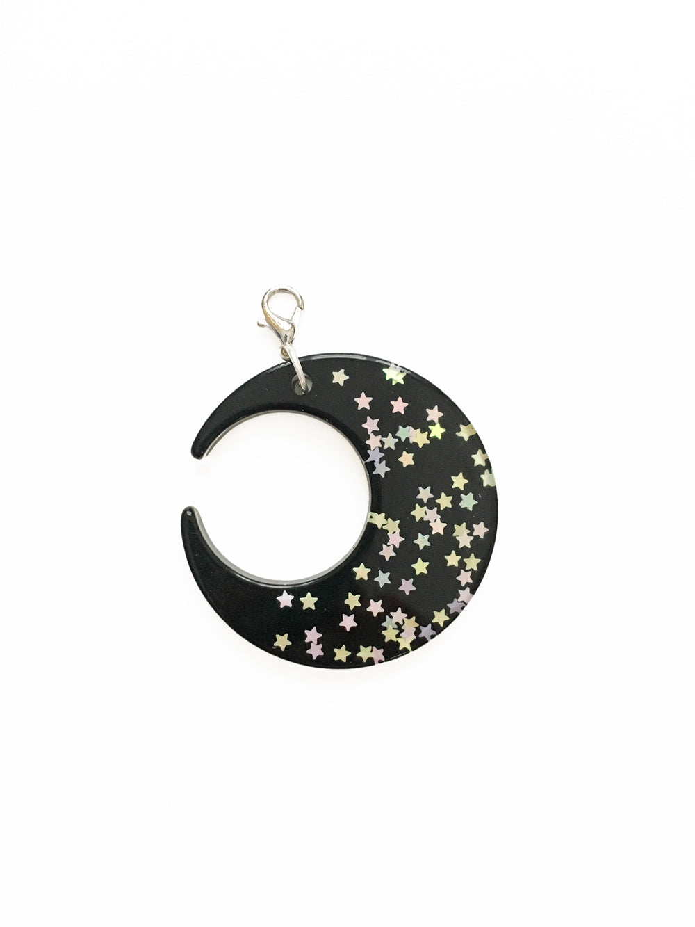 Black Moon Zipper Pull Charm