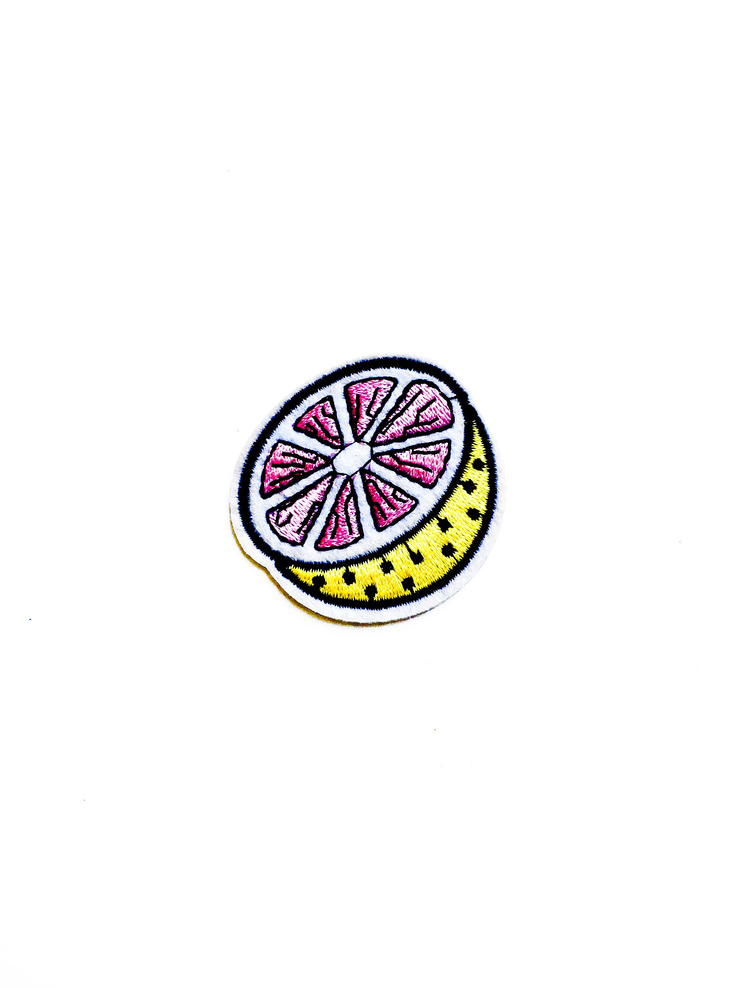 Grapefruit Iron on Patch