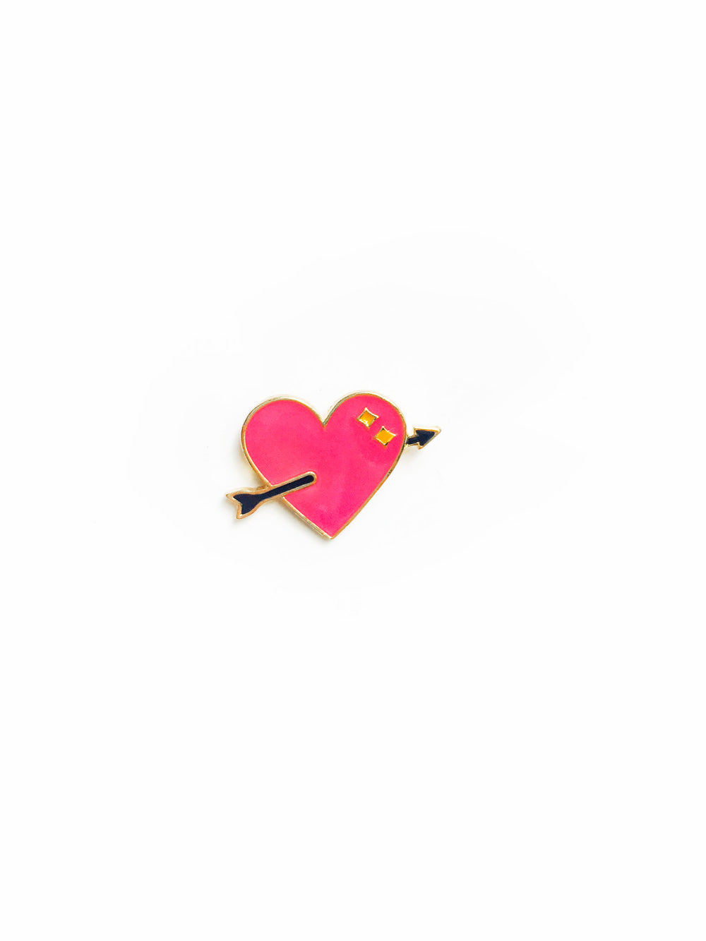 Heart and Arrow Enamel Pin