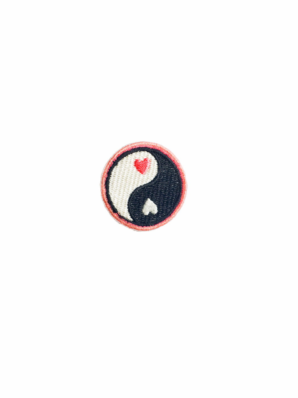 Heart Yin and Yang Iron on Patch