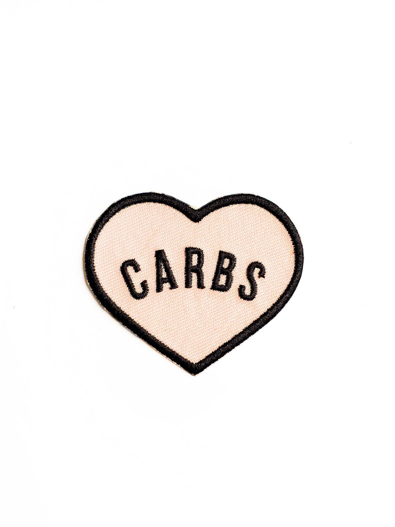 I Love Carbs Iron on Patch