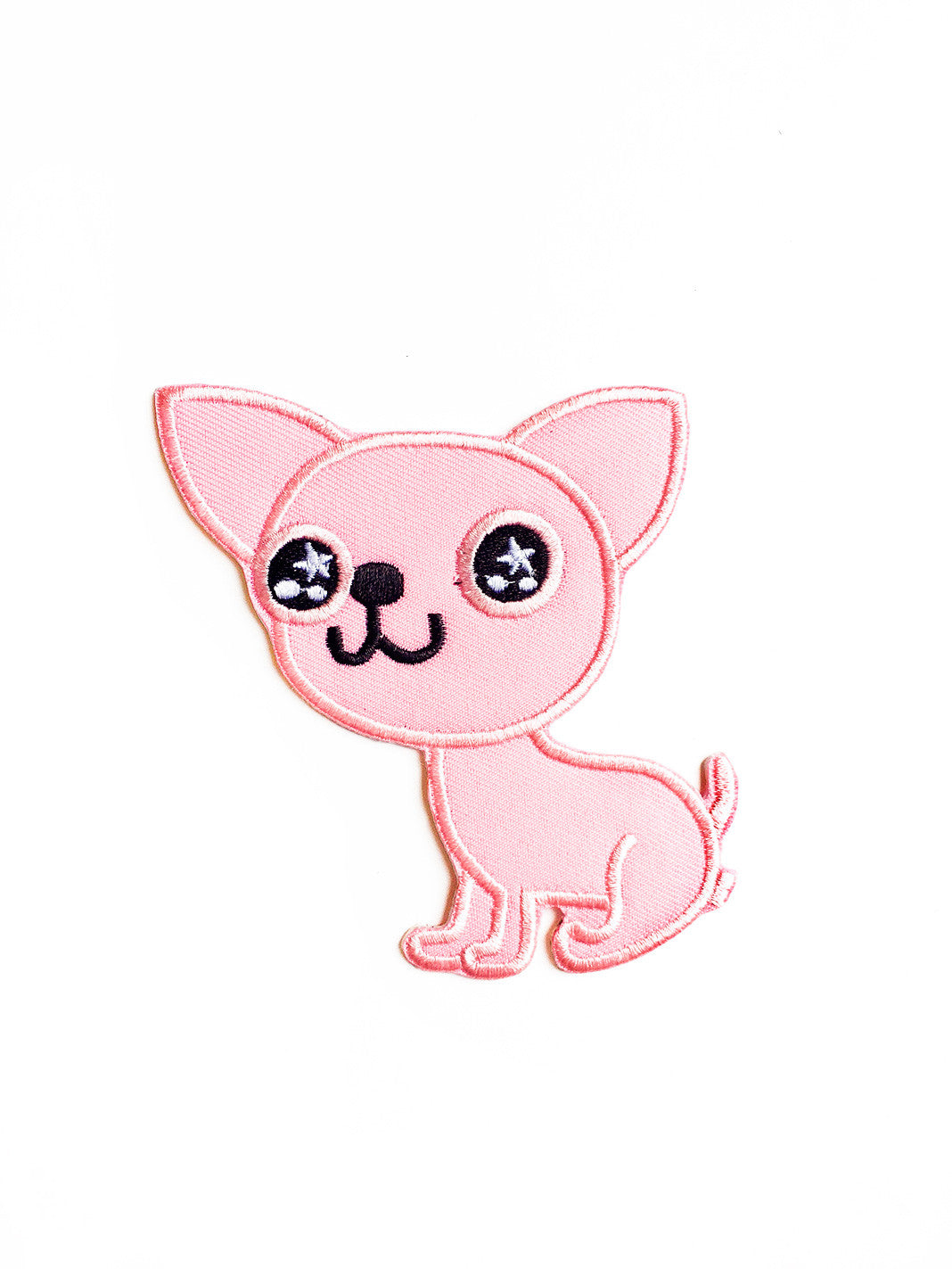 Large Pink Chihuahua Iron On Patch