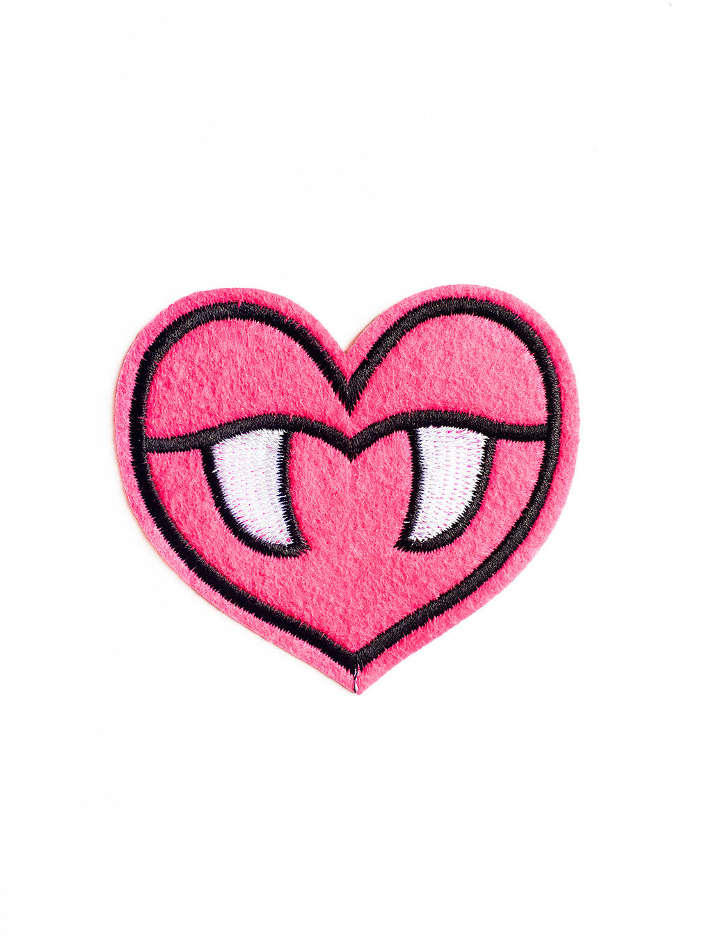 Large Vampire Heart Iron On Patch